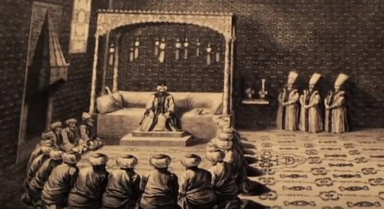 بلاط السلطان العثماني في الآستانة
