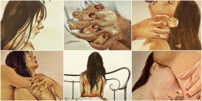 صور: فنانة إيطالية تجسد الحب والعلاقة الجنسية في لوحات