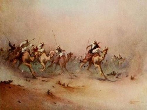 حروب البدو - رسمة تعبيرية