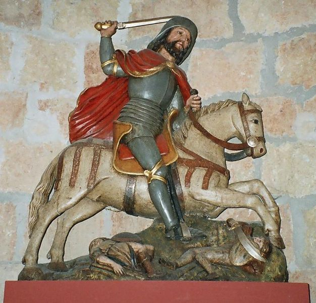 القديس جيمس وهو يحارب