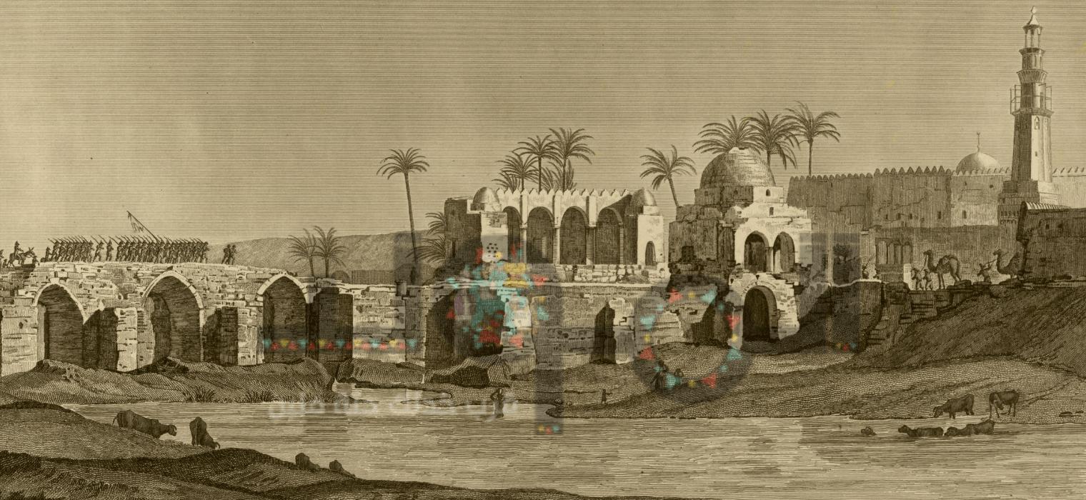 قنطرة المـجذوب كما رسمها كتاب وصف مصر
